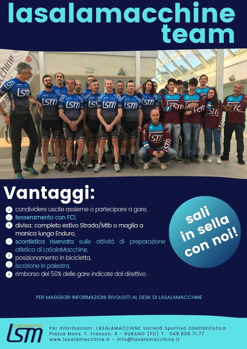 team LSM ciclisti iscrizione